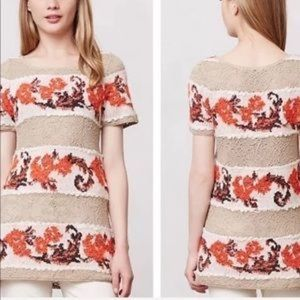 ANTHROPOLOGIE Knitted & Knotted Tunic Top Size XS